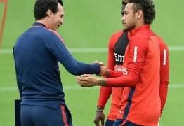 Emery nega problemas com Neymar e diz que craque fica no PSG na próxima temporada