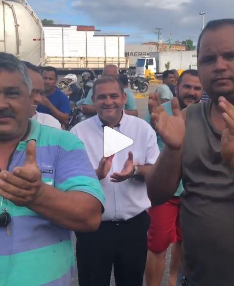 Capturar 28 - VEJA VÍDEO: 'Os trabalhadores fazem protesto justo e têm meu apoio total', diz Emerson Machado