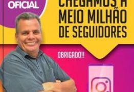 Emerson Machado chega a meio milhão de seguidores e agradece o apoio dos paraibanos