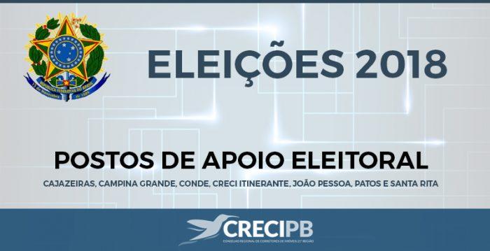 Eleicoes Creci 2018 - Postos eleitorais facilitarão votação de corretores para nova composição do Creci-PB