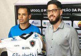 Atacante Jobinho é apresentado pelo Botafogo-PB como reforço para a Série C