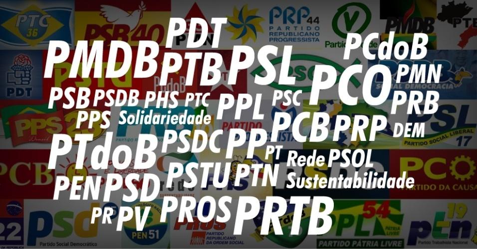 chamadas album partidos politicos 2013 1379625396817 956x500 - 14 partidos devem cair na cláusula de barreira e ficar sem fundo partidário e tempo de TV