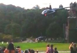Helicóptero que transportava noiva cai em casamento – VEJA VÍDEOS