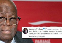 Joaquim Barbosa desiste de candidatura: 'Decisão estritamente pessoal'