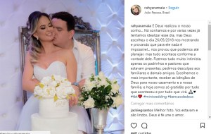 l2fd95g6 300x190 - O GORDINHO CASOU: Em cerimônia reservada, Fabiano Gomes casa com Rahyara Maia