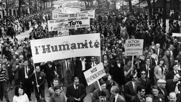 manifestation mai 1968 salaries presse 29mai1968 afp ok 0 - Grande greve de Maio de 1968 na França completa 50 anos