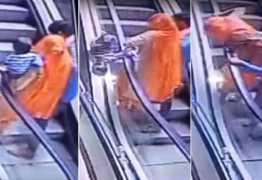 VEJA VÍDEO: Bebê morre após cair do colo da mãe em escada rolante de shopping