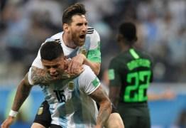 COPA DO MUNDO:  No sufoco Argentina vence a Nigéria e se conduz às oitavas de final