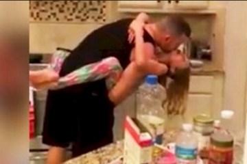 INIMAGINÁVEL: Mãe acorda com música na cozinha e surpreende marido com a filha, pegou celular e filmou tudo – VEJA VÍDEO