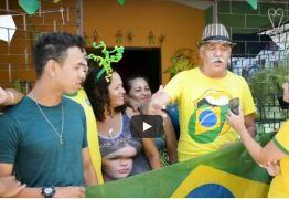 PARAIBANOS ANIMADOS NA COPA: Confira a animação e torcida dessa família na Vitória do Brasil – VEJA VÍDEO