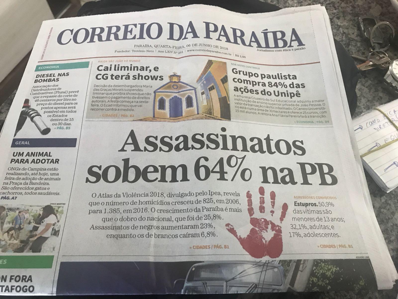 WhatsApp Image 2018 06 06 at 14.53.45 1 - ROBERTO JÁ ESCOLHEU UM LADO: Sistema Correio abre as 'baterias' contra o Governo Ricardo Coutinho