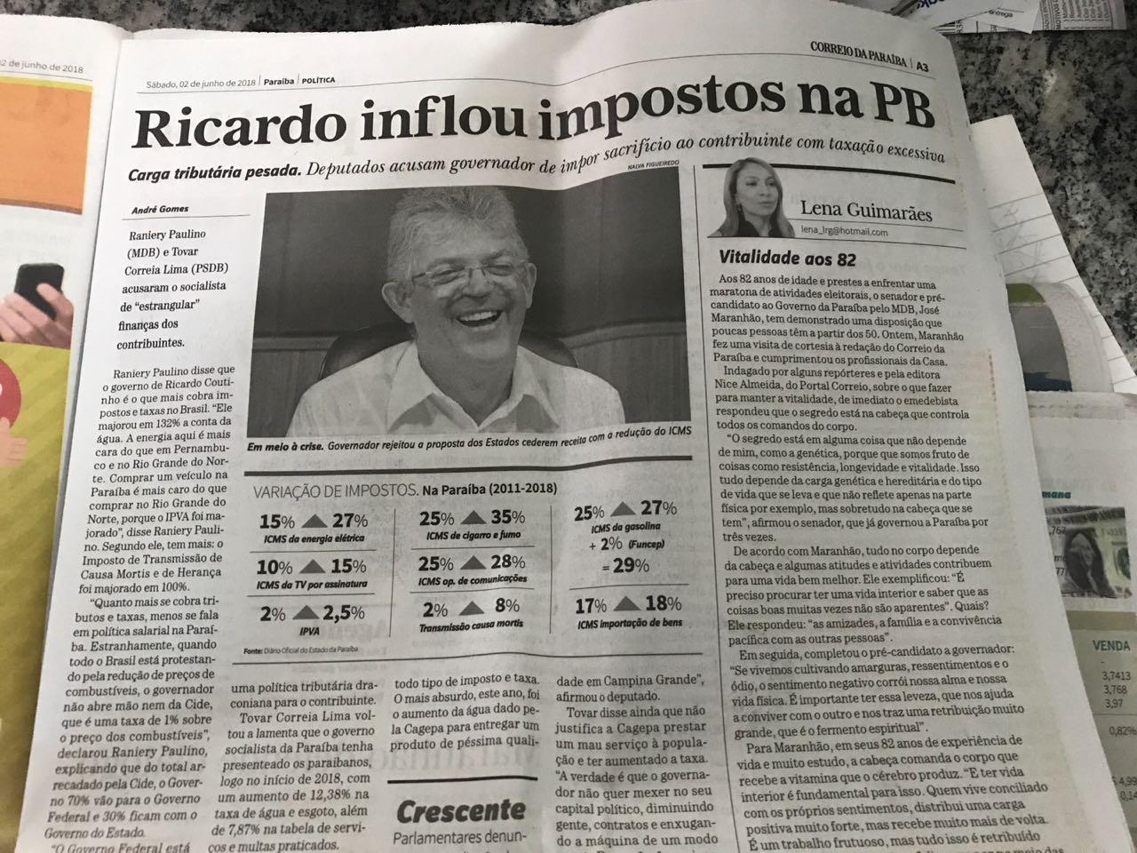 WhatsApp Image 2018 06 07 at 07.41.14 - ROBERTO JÁ ESCOLHEU UM LADO: Sistema Correio abre as 'baterias' contra o Governo Ricardo Coutinho