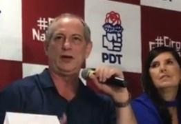 COMPROMISSO DE CAMPANHA: Ciro Gomes desembarca neste sábado em João Pessoa