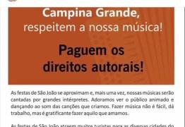 'RESPEITEM NOSSA MÚSICA': Compositores fazem campanha para receber direitos autorais do 'Maior São João do Mundo'