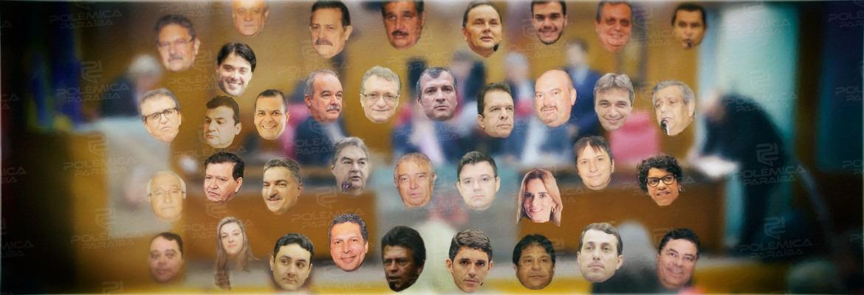 deputados - RESULTADO DA ENQUETE: saiba quem são os deputados mais 'rejeitados' da Assembleia Legislativa da Paraíba