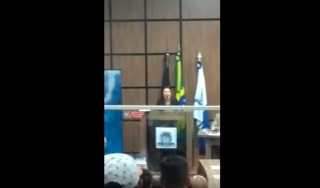 edjane - Vereadora se posiciona contra afastamento de Dinaldinho da Prefeitura de Patos; VEJA VÍDEO!