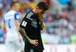 Argentina vê Messi errar pênalti e tropeça em empate contra a Islândia