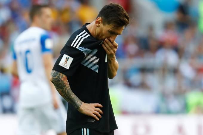 esporte copa argentina islandia 20180616 013 - Argentina vê Messi errar pênalti e tropeça em empate contra a Islândia