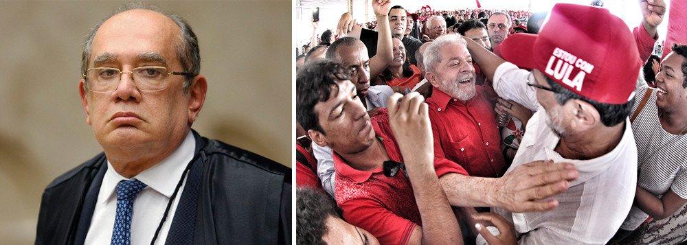 gilmar mendes - PRESO POLÍTICO? Gilmar Mendes diz que liderança de Lula nas pesquisas eleitorais é o 'enigma da Lava Jato'