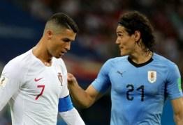 Uruguai vence Portugal e garante classificação às quartas de final da Copa do Mundo