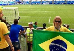 Russo que virou mascote da seleção com olhar sinistro verá Brasil e Bélgica
