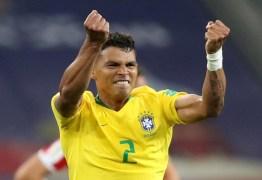 Thiago Silva será o capitão da Seleção nas oitavas de final, contra o México