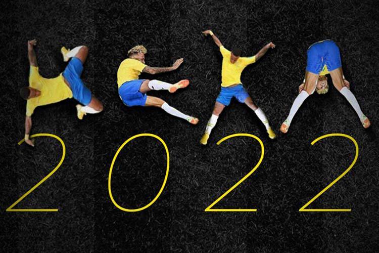 2022 - Designer cria tipografia que tem letras baseadas nas quedas de Neymar na Copa