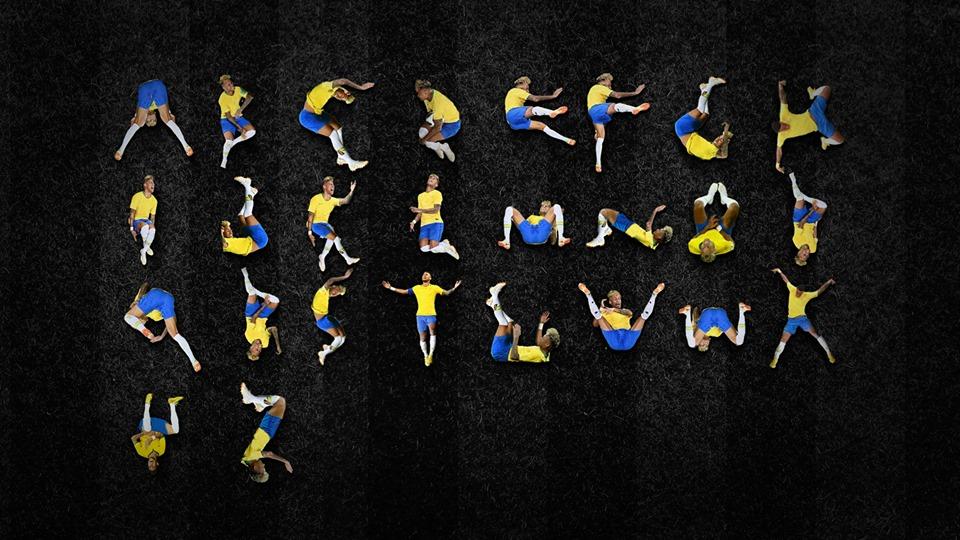 Designer cria tipografia que tem letras baseadas nas quedas de Neymar na Copa
