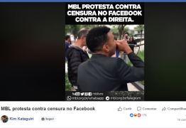 MBL protesta em frente ao Facebook contra desativação de páginas e perfis – VEJA VÍDEO!