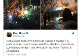 Elon Musk leva 'minissubmarino' a caverna na Tailândia