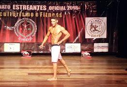 Jovem atleta de Cajazeiras é campeão no Estreantes de Fisiculturismo em João Pessoa