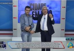 VEJA VÍDEO: Erly Fernandes é novo contratado da TV Arapuan e já chega com todo gás