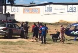 VEJA VÍDEO: Revoltado com poluição comerciante paraibano tenta atear fogo em helicóptero