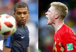 França ou Bélgica? 1° finalista da Copa do Mundo será conhecida hoje
