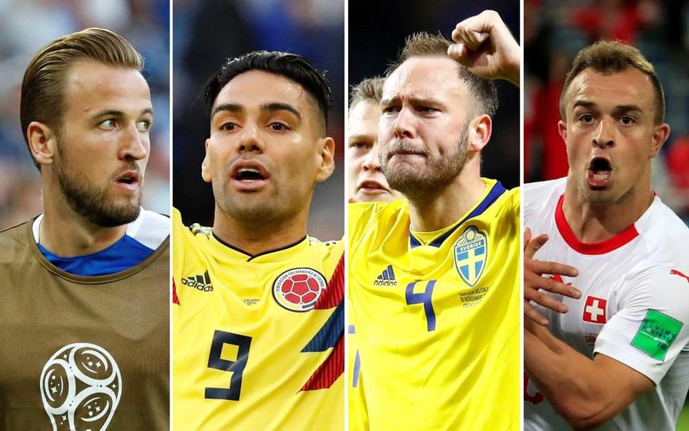montagem - Suécia x Suíça e Colômbia x Inglaterra definem último confronto das quartas de final