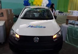 Prefeitura de Alhandra entrega equipamentos e três novos veículos para ampliar serviços de Saúde