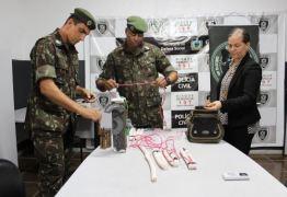 Exército investiga origem de explosivos e arsenal de quadrilha presa na Paraíba
