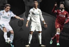 Cristiano Ronaldo, Modric e Salah disputam prêmio de melhor jogador do ano da Uefa