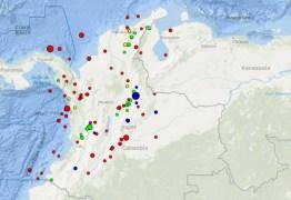 Terremoto de 6,1 graus atinge a Colômbia; não há registro de vítimas