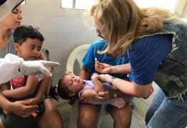 Santa Rita vacina 40% do público-alvo contra sarampo e pólio