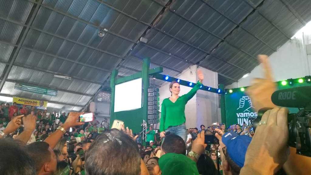 WhatsApp Image 2018 08 05 at 12.50.07 1024x576 - VEJA VÍDEOS: Convenção do PV oficializa chapa de Lucélio e Micheline, Cássio e Daniella