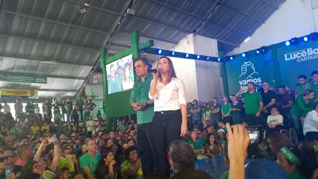 WhatsApp Image 2018 08 05 at 13.27.22 1024x576 - VEJA VÍDEOS: Convenção do PV oficializa chapa de Lucélio e Micheline, Cássio e Daniella