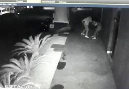 VEJA VÍDEO: Câmera de segurança flagra homem agredindo mulher com socos e chutes