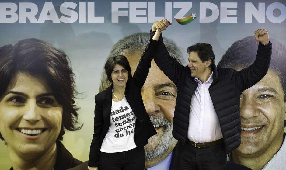 manuela haddad bruno rocha fotoarena ae - DEBATE PARALELO: PT estando de fora da TV, fará transmissão com Haddad e Manuela na web