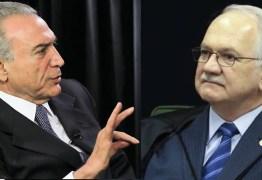 Fachin autoriza prorrogação por mais 60 dias de inquérito sobre Temer no caso Odebrecht