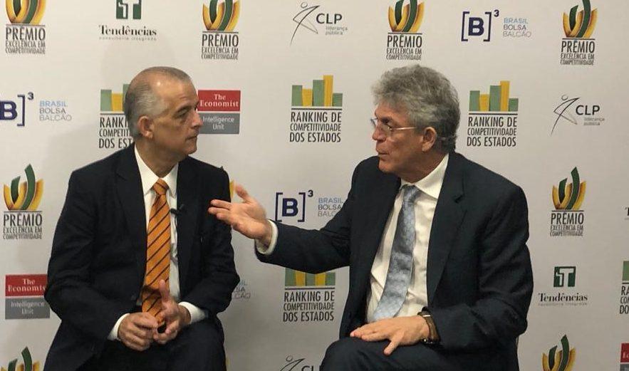 IMG 20180914 WA0024 e1536939743594 - PARAÍBA COMPETITIVA: Ricardo Coutinho é homenageado e traz prêmio de excelência em competitividade para o Estado  - VEJA VÍDEO