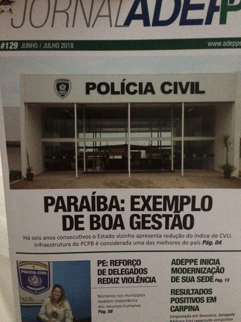 IMG 20180924 WA0011 - RECONHECIMENTO: Associação de Delegados de Pernambuco destaca redução de violência na Paraíba e infraestrutura da Acadepol e Central de Polícia