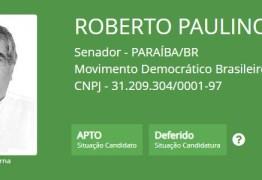 TRE defere candidatura de Roberto Paulino ao Senado Federal