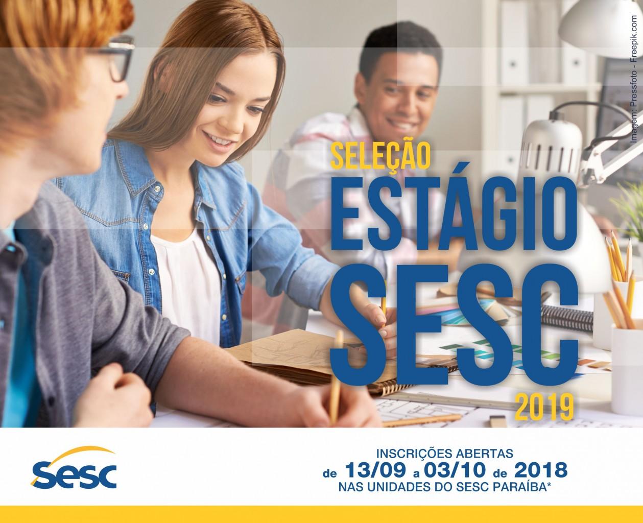 estagiosesc - Sesc Paraíba abre inscrições para seleção de estágio 2019
