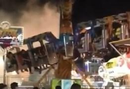 Brinquedo de parque de diversões pega fogo e causa pânico em Sousa – VEJA VÍDEOS!